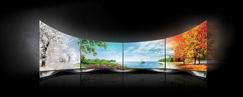 Curved and Flat OLED displays from LG