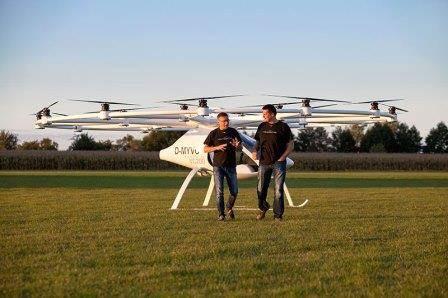 Ιπτάμενα ταξί Volocopter 2X
