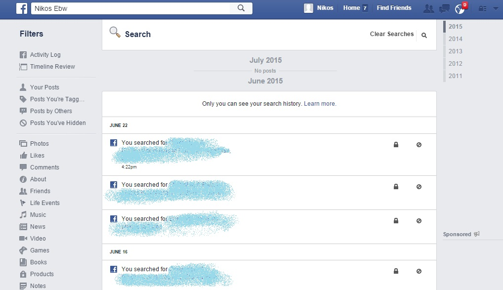 Easy service clear facebook history or we can go nuclear and delete everything by clicking and then confirming the clear searches option this will delete facebook search history ccuart Images